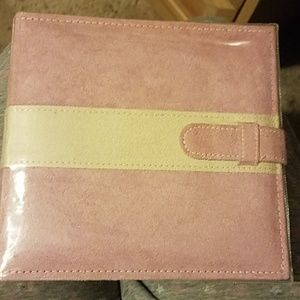 Pink and Cream Suede Photo Book